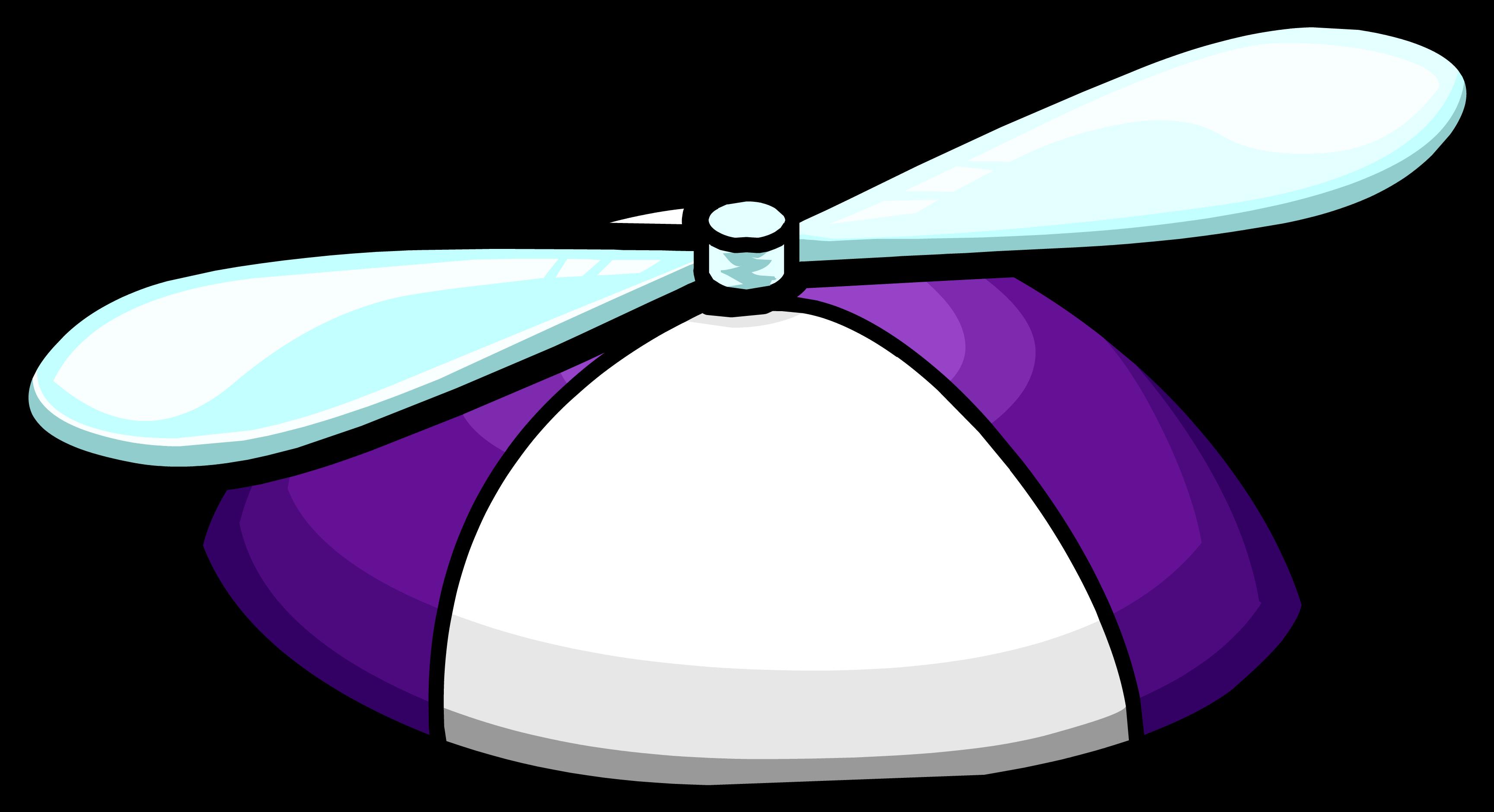 Purple Propeller Hat
