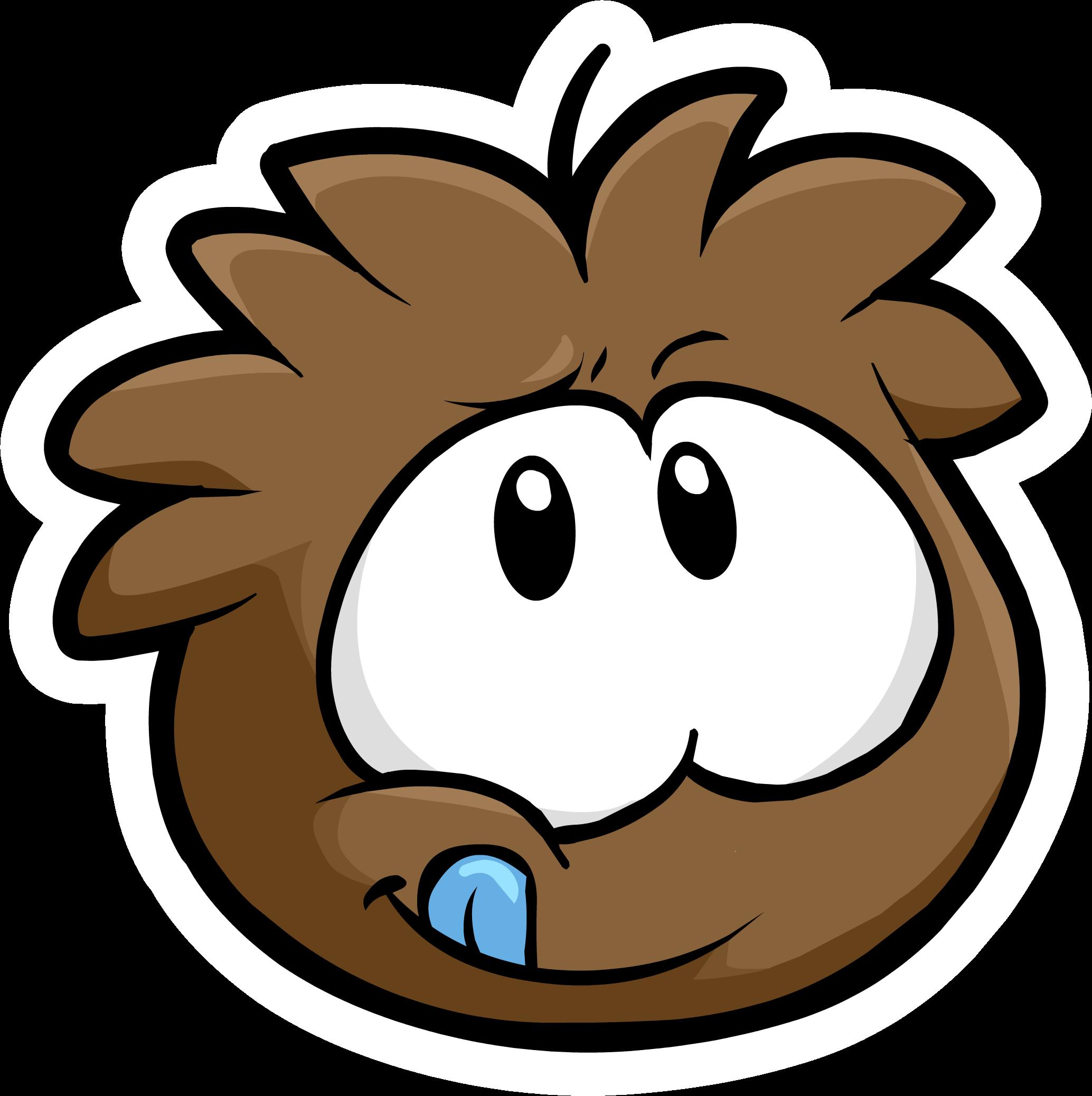 Brown Puffle Pin