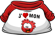 I Heart My Red Puffle T-Shirt icon fr
