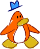 Doodle Dimension penguin Orange hat