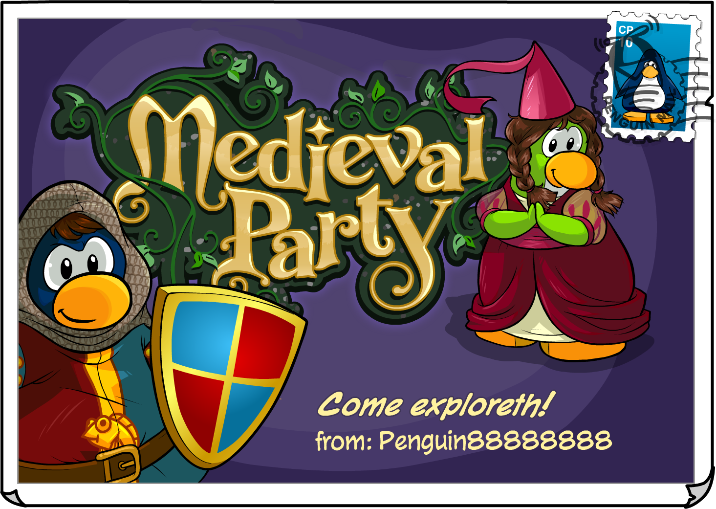 Medieval Party postcard (ID 232)