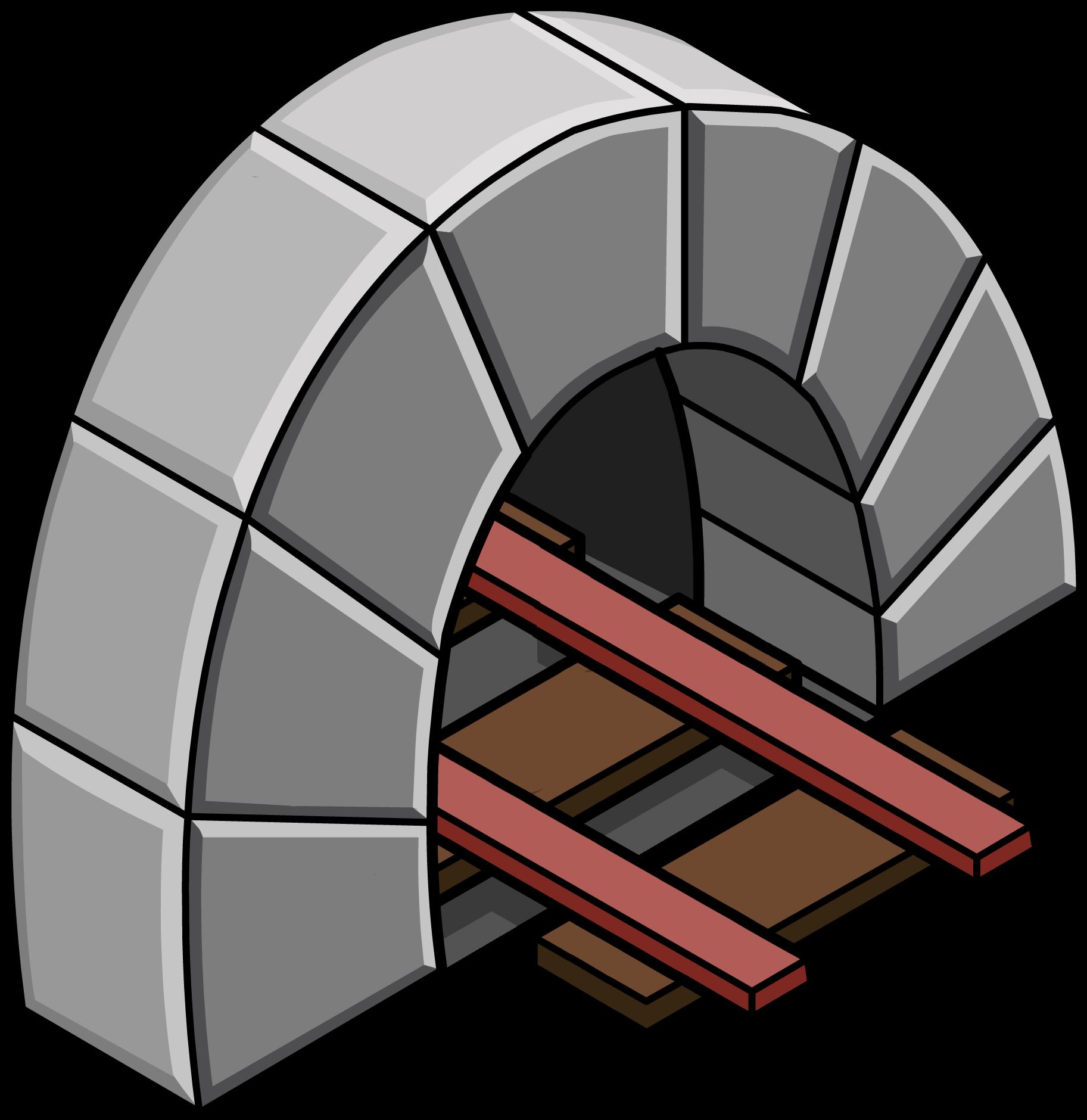 Túnel con Vía Roja