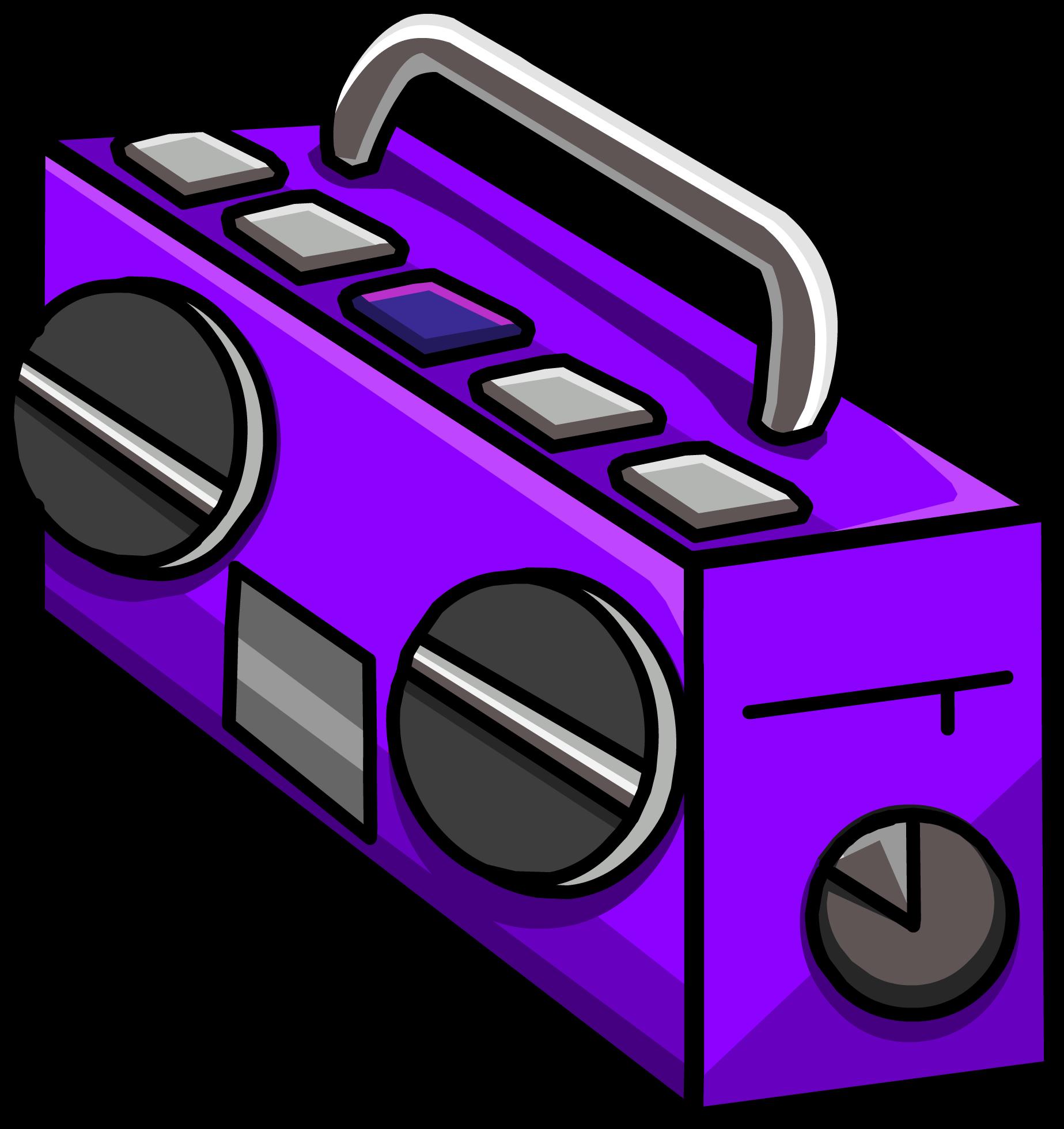 Purple Boom Box (ID 5159)