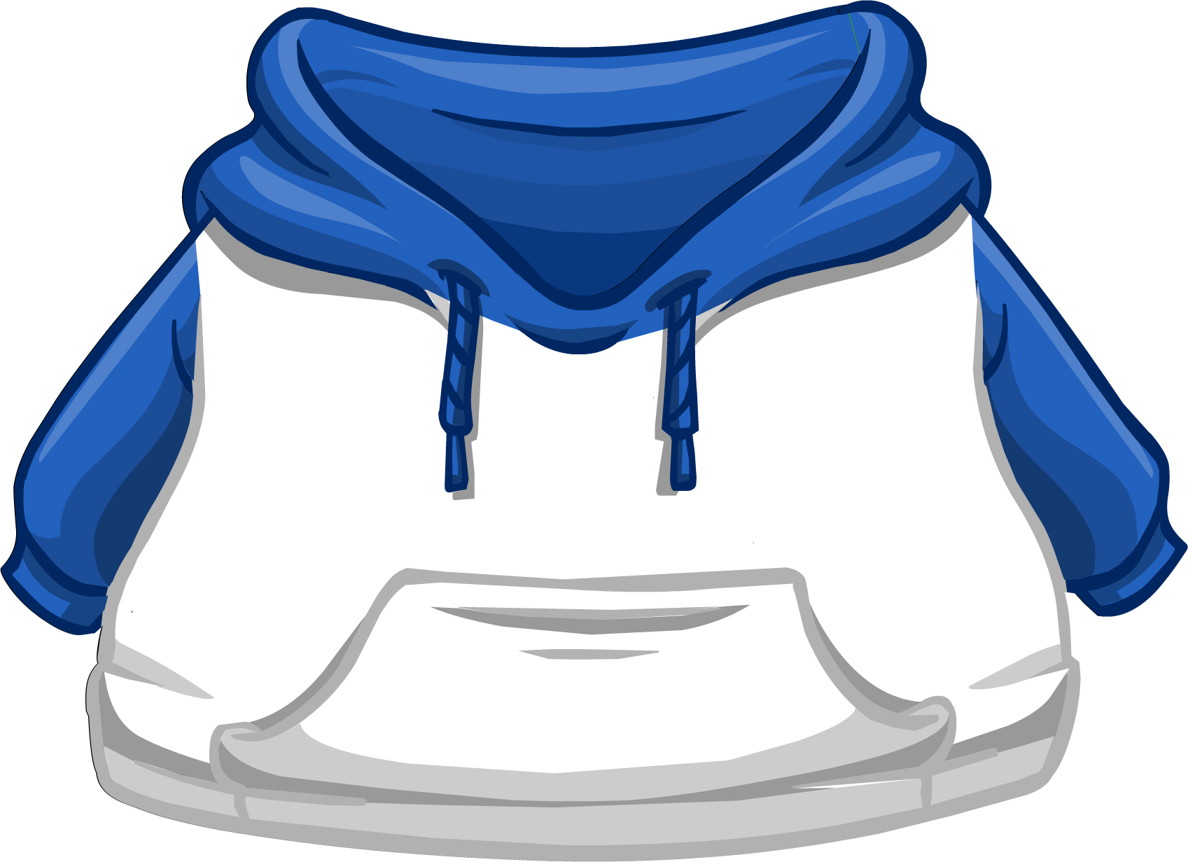 Blue and White Two-tone Hoodie