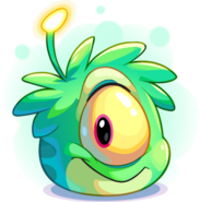 Puffle alien verde