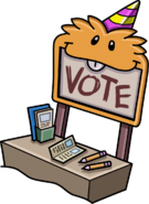 Vote Booth with an Orange Puffle