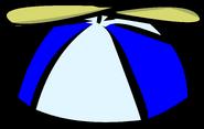 Blue propeller cap old icon