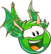 Puffle Dragón Verde
