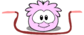 Pink puffle playing with items2