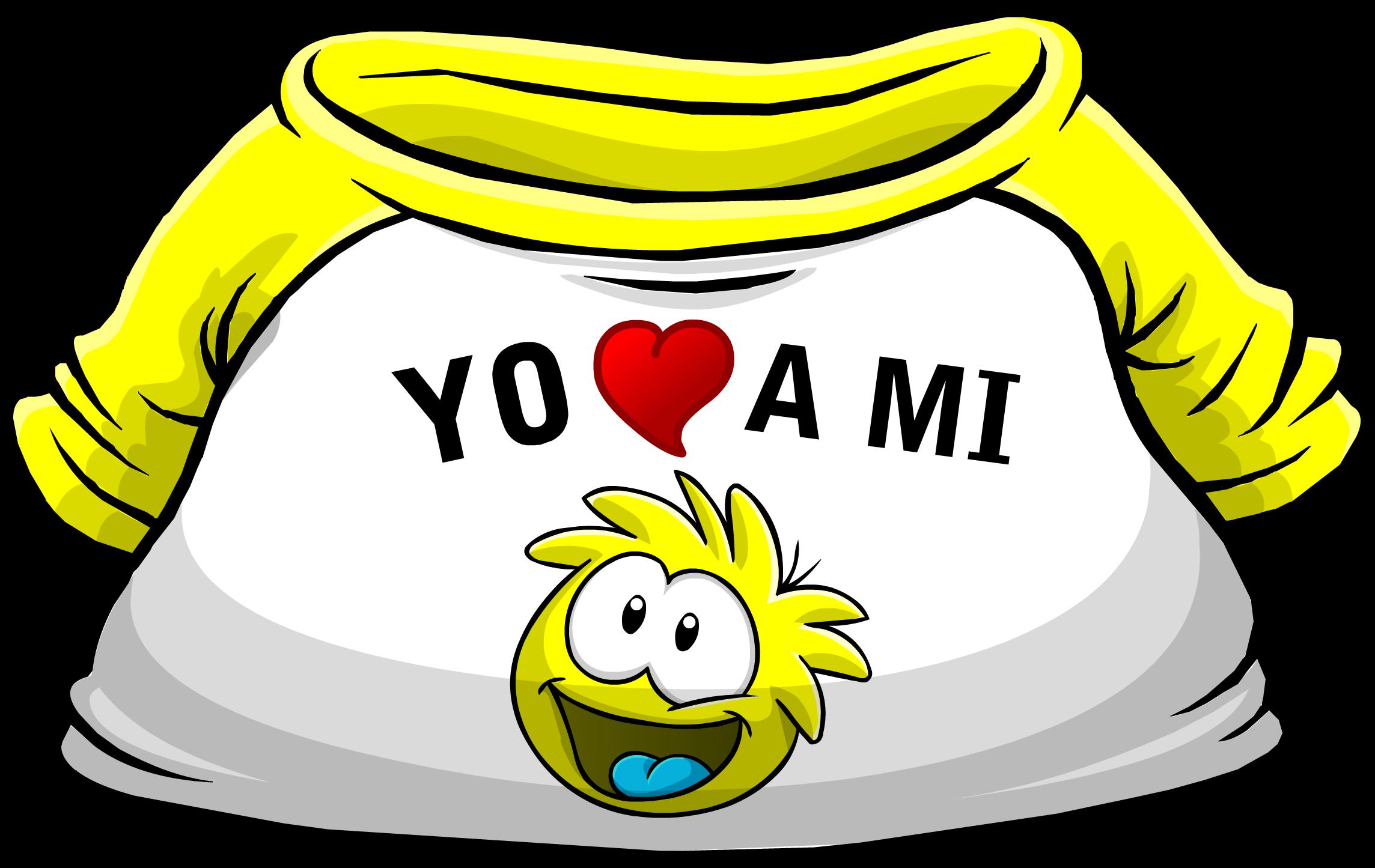 """Camiseta """"Yo Amo a mi Puffle Amarillo"""""""