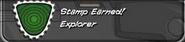 Explorer Stamp Earned