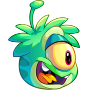 Puffle puffle alien verde a