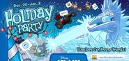 Holiday Login screen