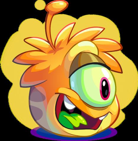 Puffle Extraterrestre Naranja