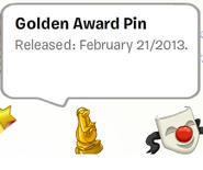Golden Award Pin Stamp Book