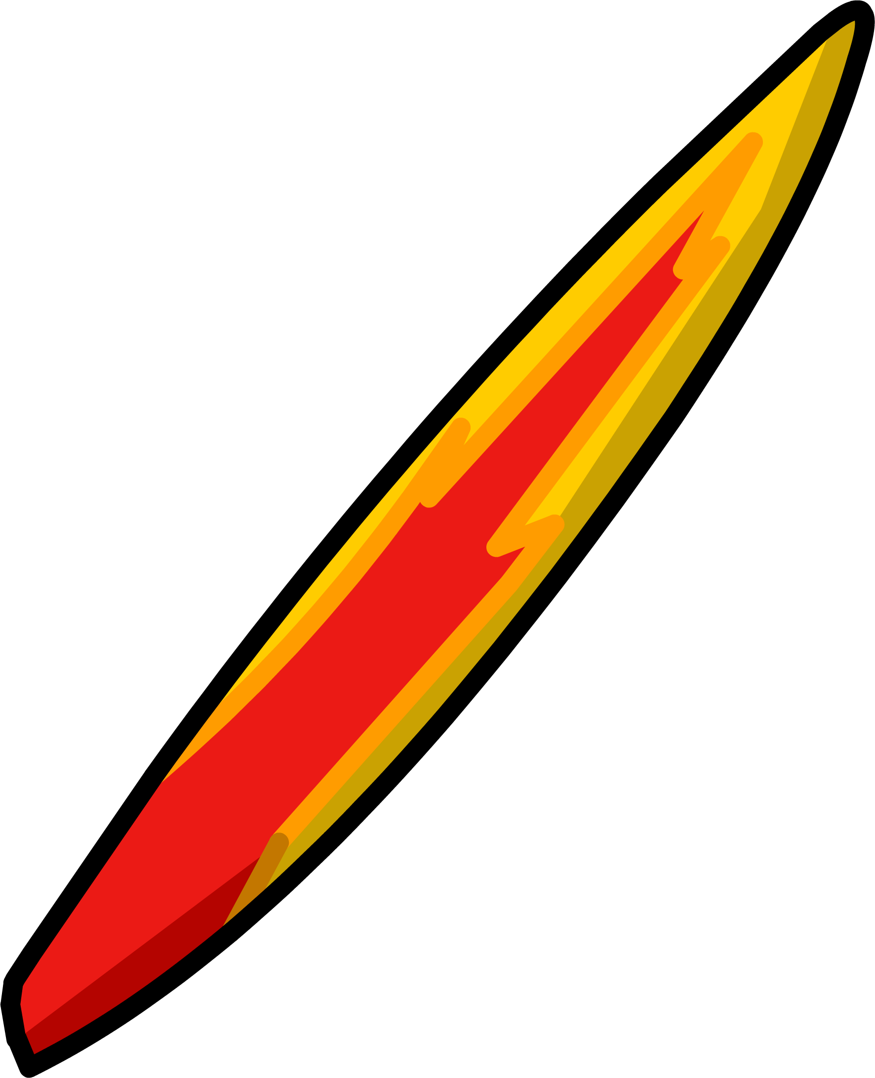Flame Surfboard
