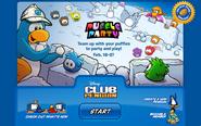 Puffle Party Login Screen