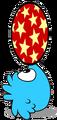 Blue Puffle playing