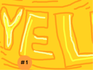 Game month yellow banner