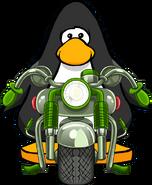 Motocicleta Verde carta