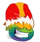 Rainbow Yoshi puffle
