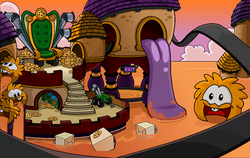 April Fools' Party 2012 Orange Puffle Dimension.png