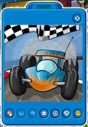 Light blue race cars