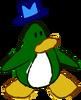 Doodle Dimension penguin Dark Green hat