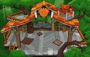Orange Puffle Tree House sprite