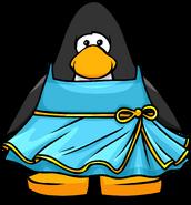 Blue sky dress on a Player Card