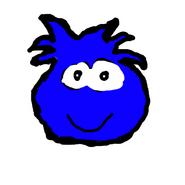 Dark blue puffle