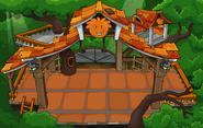 Orange Puffle Tree House with flooring