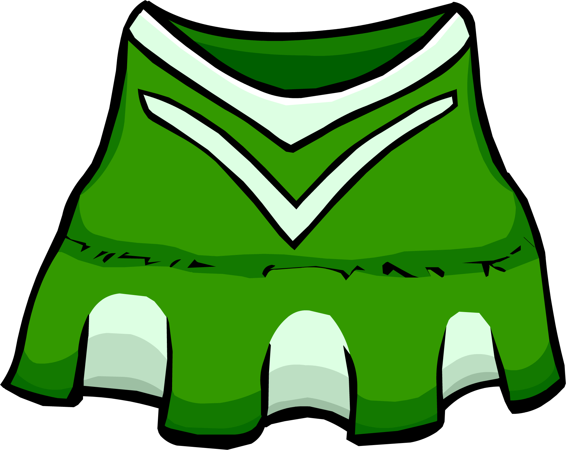 Green Cheerleader Outfit