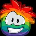 Puffle 2014 Transformation Player Card Rainbow