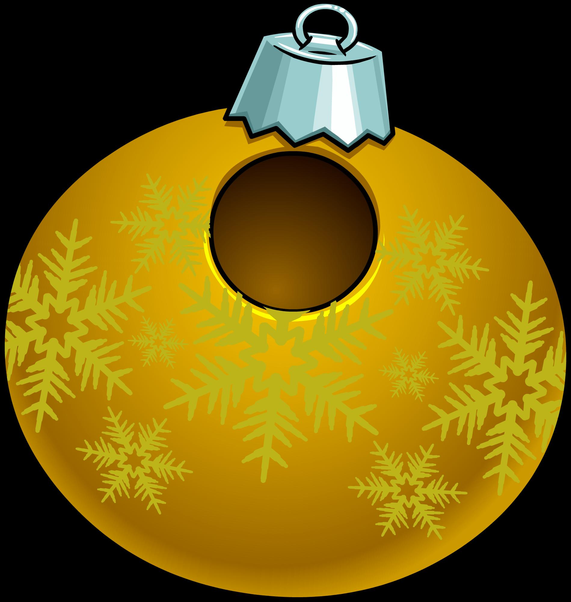Disfraz de Adorno de Navidad Dorado