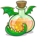 487px-Medieval 2013 Potions Green Puffle Dragon