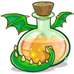 487px-Medieval 2013 Potions Green Puffle Dragon.png