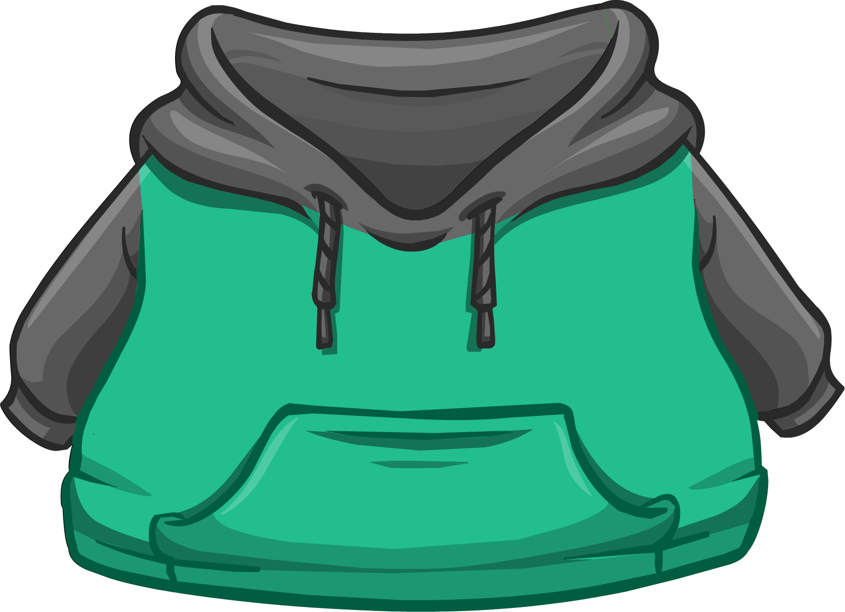 Black and Green Two-tone Hoodie