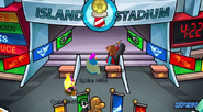 Entrando al estadio