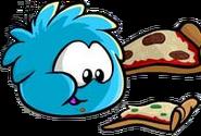 BluePuffleEatingPizza