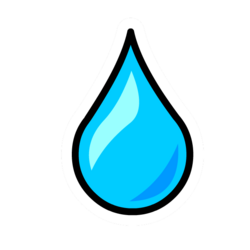 Water Droplet Pin
