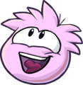Pink PuffleLookingUp