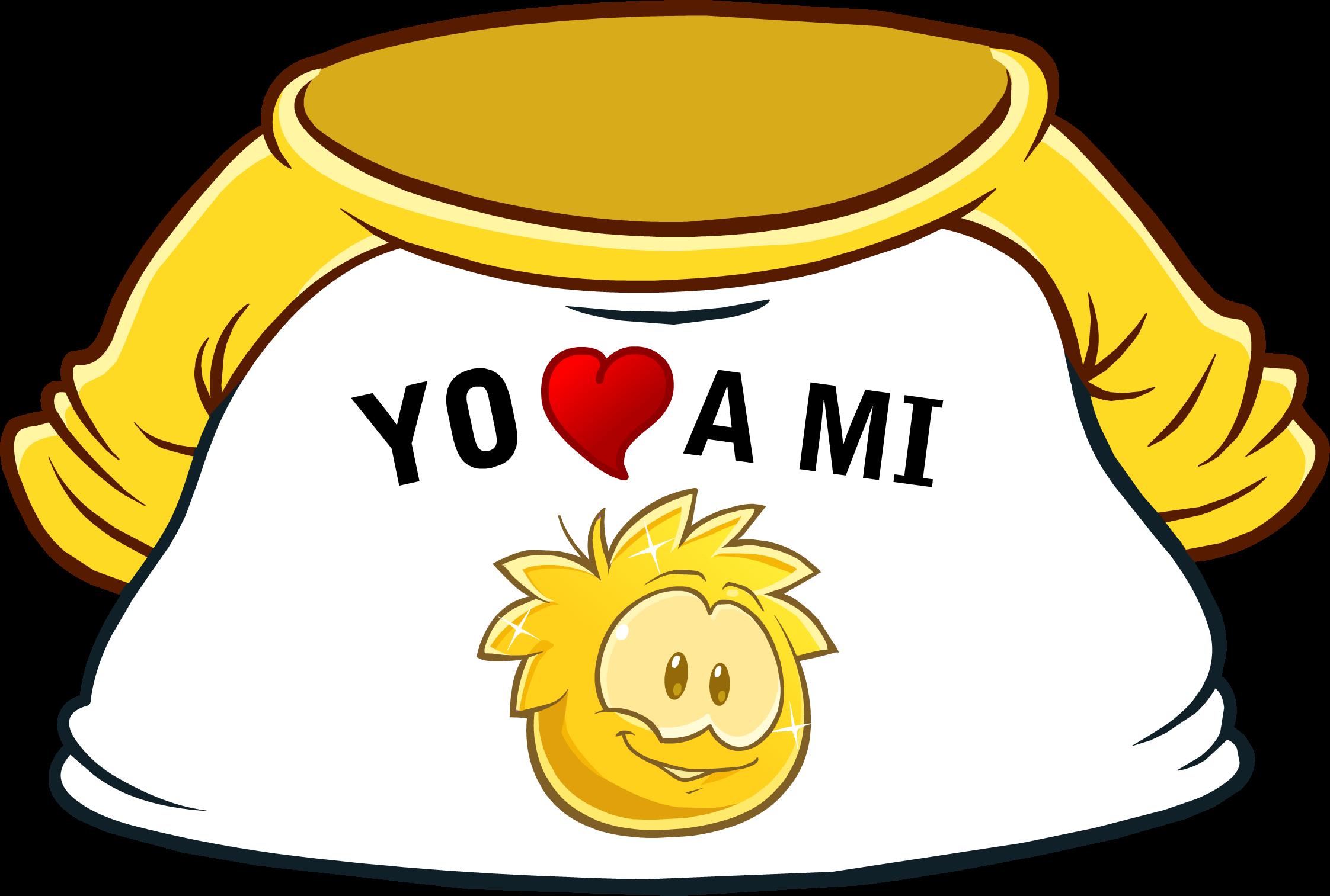 "Camiseta ""Yo Amo a mi Puffle Dorado"""