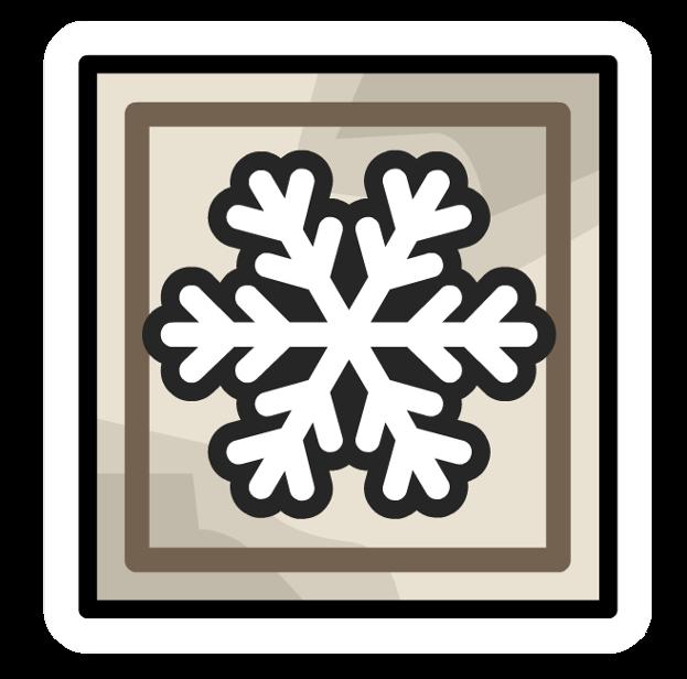 Pin de Cuadro de Nieve
