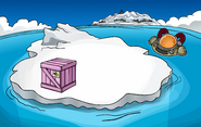 Puffle Party 2010 construction Iceberg