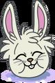 Puffle conejo blanco aaa