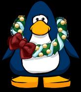 Corona de Navidad Feliz tarjeta