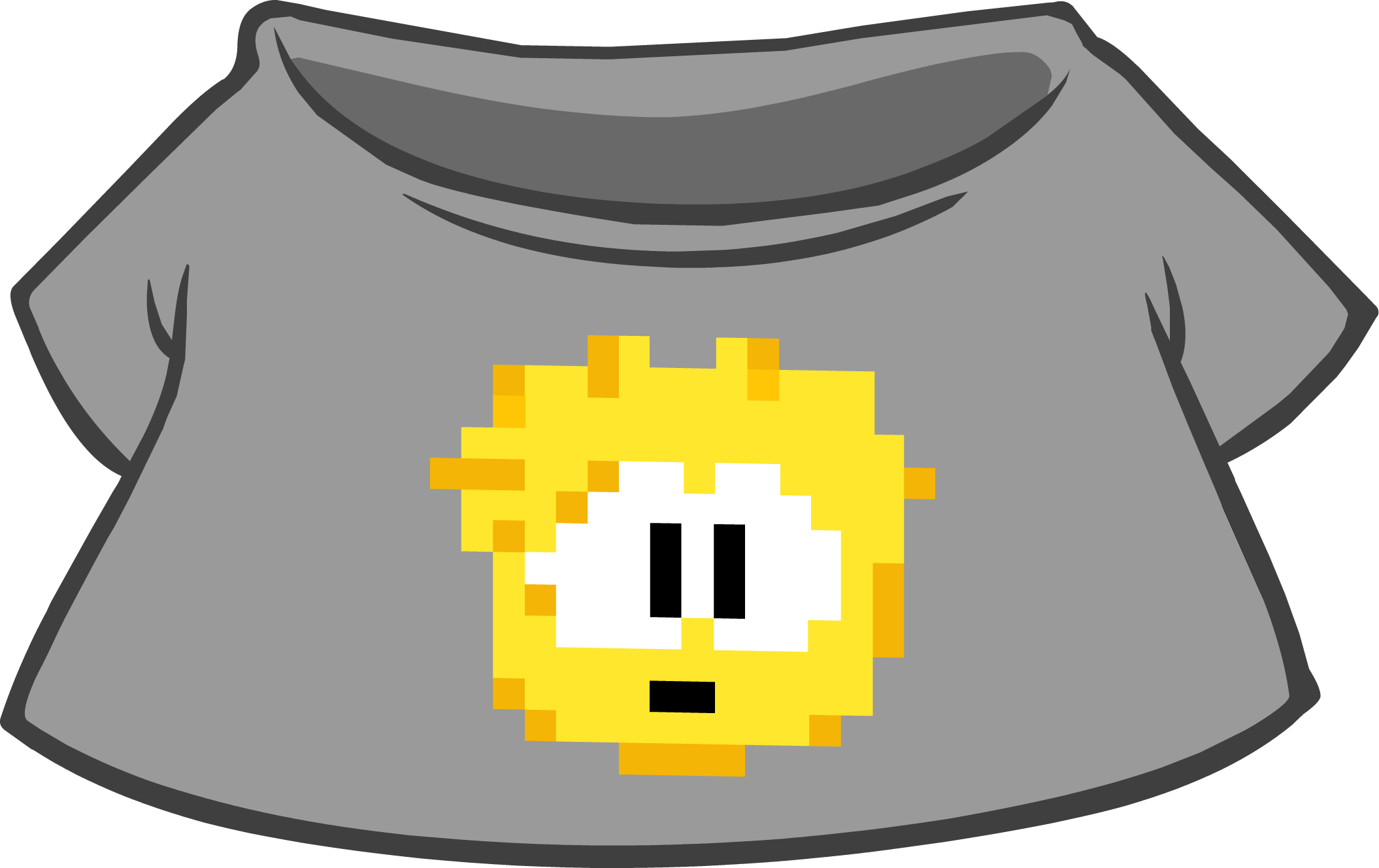 Gold Pixel Puffle Tee