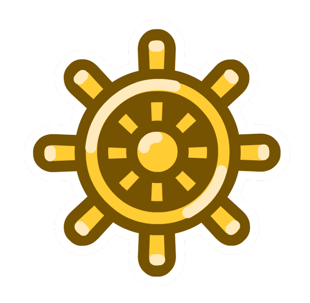 Pin de Timón de Oro