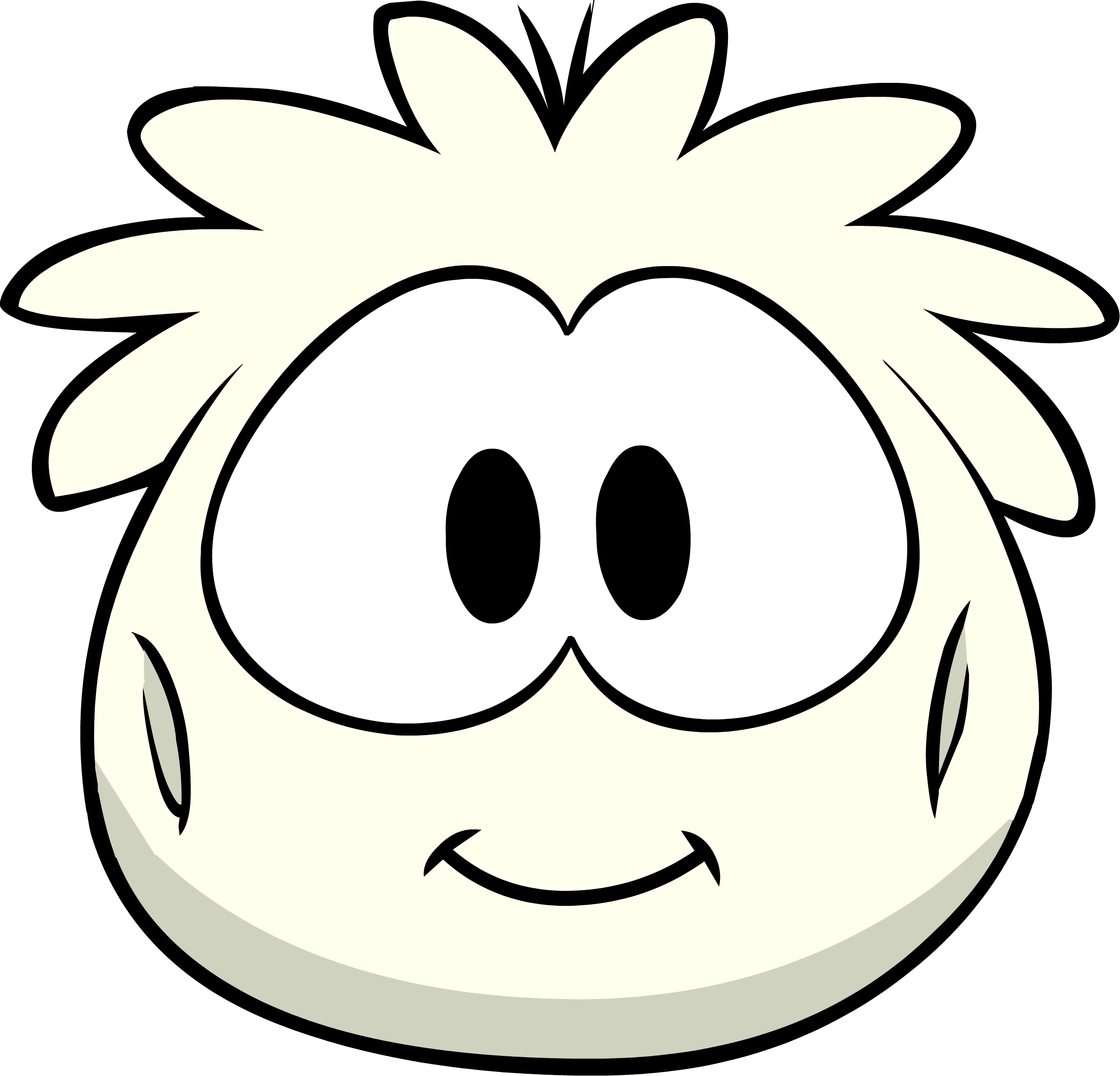 Disfraz de Puffle Blanco